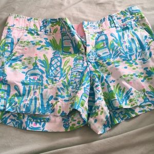 ☀️Lilly Pulitzer Callahan shorts High Beams print